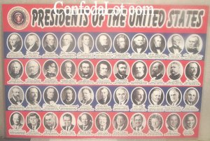 Historical Presidential Placemats with all United States Presidents NEW Huge 17 inches