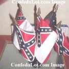 5 Flags of Confederacy Desk set NEW Confederate