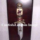 Robert E Lee Collectors Knife and Plaque set NEW Confederate Civil War