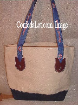 Confederate Redneck Woman Zippered Tote Purse with Straps NEW