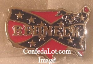 Confederate REDNECK Pewter Belt Buckle NEW Very Unique Map Designed-Can U Tell What its the Map of?