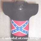 Confederate Koozie Coolie Shaped like a Tee Shirt Jerzee - for Bottles Cans - Very Unique NEW BLACK