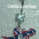Confederate Sexy Girl Sparkling Dangling Body Jewelry NEW She's in a Rather Provocative Position