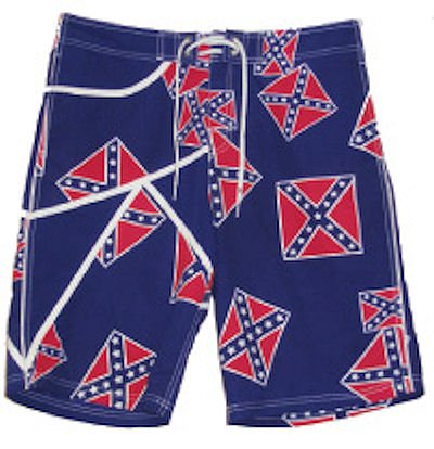 Confederate Flag Casual Lounging Shorts with Drawstring NEW