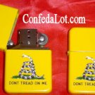 Gadsden Don't Tread on Me Refillable Lighter NEW Tea party rattle snake