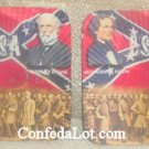 Confederate Robert E Lee Jefferson Davis Coaster Set NEW
