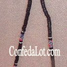 Confederate Black PuKa Wood Beaded Necklace NEW