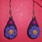 Purple flower swirl