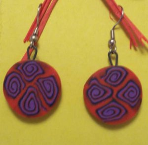 Red and purple swirlies