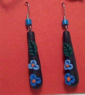 Blue flower droplets