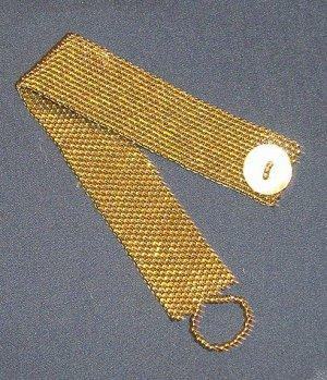 Antique Gold Seed Bead Bracelet