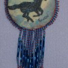 Handpainted Fringed Horse Pin