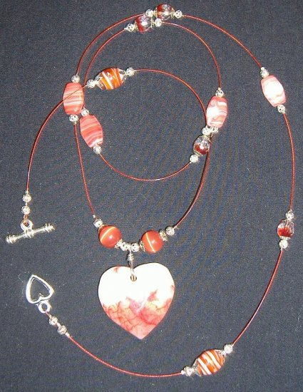 Marbled Heart Pendant