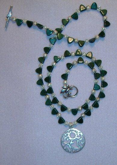 Round Silver Pendant