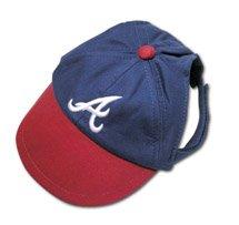 Atlanta Braves Official MLB Dog Baseball Cap Hat Size Small