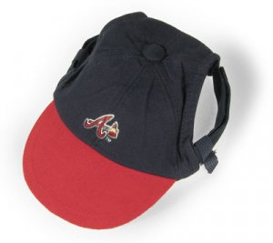 Atlanta Braves Logo Dog Baseball Cap Hat Size Small