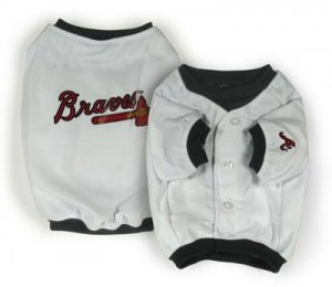 Atlanta Braves Official MLB Dog Jersey Shirt Size X-Large