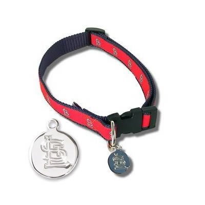 St Louis Cardinals Official MLB Dog Collar with ID Tag Size Medium/Large