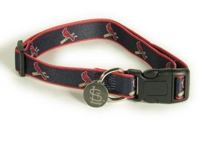 St Louis Cardinals Logo Dog Collar Size Medium/Large