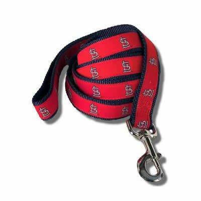 St Louis Cardinals MLB Dog Leash 6 Ft Size Small
