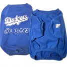 Los Angeles Dodgers #1 Fan Dog T-Shirt Size Medium