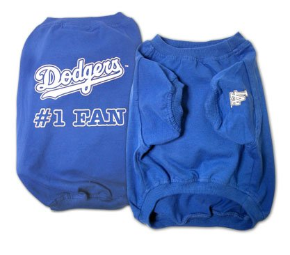 Los Angeles Dodgers #1 Fan Dog T-Shirt Size Large