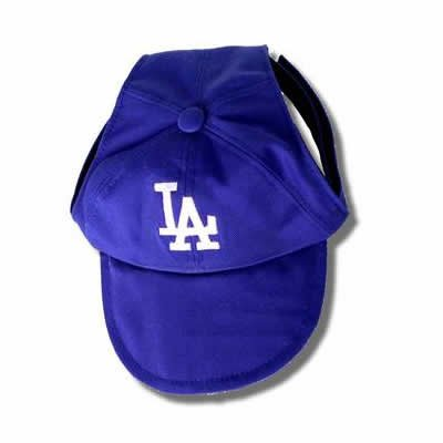 Los Angeles Dodgers MLB Dog Baseball Cap Hat Size Small