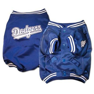 Los Angeles Dodgers MLB Dog Baseball Jacket Coat Size Medium