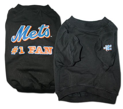 New York Mets #1 Fan Dog T-Shirt Size Large