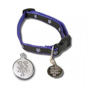 New York Mets MLB Dog Collar with ID Tag Size M/L
