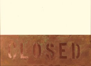 """CUSTOM COPPER SIGN TWO SIDED 3"""" X 12"""""""