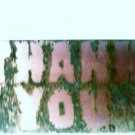 "Copper THANK YOU sign 6"" x 12"""