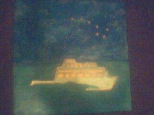 """copper art """" The Night Sea"""""""