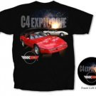 "C4 Corvette ""C4 Explosive"" Black T-Shirt - L"