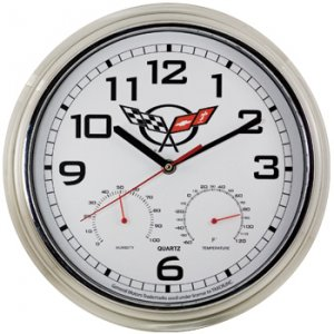C5 Corvette Weather Station Wall Clock