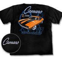 Camaro Z/28 Supercharged 69 Black T-Shirt - L