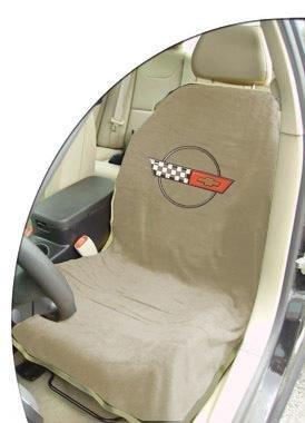 C4 Corvette Seat Armour 100% Cotton Seat Cover 2PK Tan