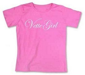 "Women's Raspberry ""Vette Girl"" Scoop Neck T-Shirt - M"