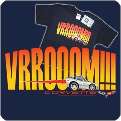 "Children's C6 Corvette ""VRROOOM!"" Navy T-Shirt-Youth XS"