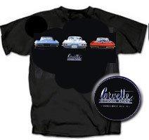 C2 Corvette Sting Ray on Black T-Shirt - L
