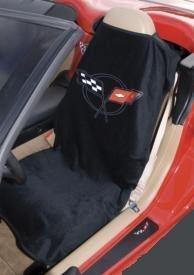 C5 Corvette Seat Armour 100% Cotton Seat Cover 2PK Blk