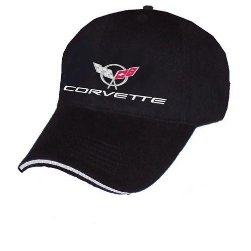 C5 Corvette Script Black Sandwich Brim Hat