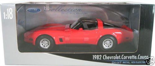 C3 1982 Red Corvette Coupe Cross Fire 1:18 Diecast