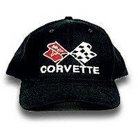 C3 Corvette Black Low Profile Cotton Brushed Twill Hat