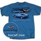 "C5 Corvette ""Setting the Standard..."" Blue T-Shirt - XL"