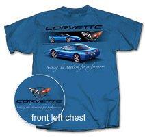 "C5 Corvette ""Setting the Standard..."" Blue T-Shirt - XL"