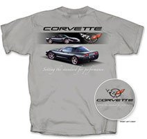 "C5 Corvette ""Setting the Standard..."" Grey T-Shirt - L"