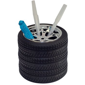Wheel and Tire Pen Pencil Holder