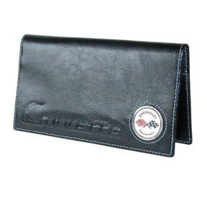 Corvette C1 Checkbook Cover - Black Leather
