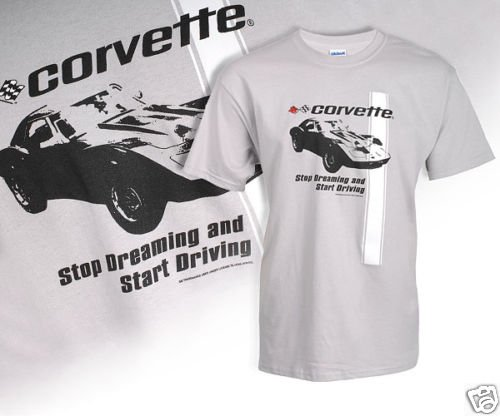 "C3 Corvette ""Stop Dreaming"" Gray T-Shirt - 2XL"